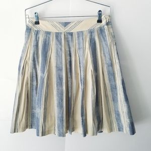 NWOT Anthropologie Maeve Blue and Cream Full Skirt